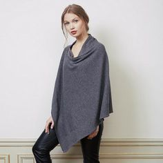 Cape poncho Pinderman en maille - Sud Express
