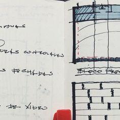 Estudos de fachada para o BNDES.  #0E1representação #0E1 #croquis