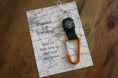 Compass party favors for a vintage travel themed first birthday. Oh the places he'll go!