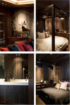 chalet interior bedroom, sovrum alphus, fjällstuga, fjällstil, ski lodge style,