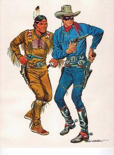 The Lone Ranger and Tonto by Gray Morrow Western Comics, Western Art, Tarzan, Jean Giraud, Comic Books Art, Comic Art, Gi Joe, Serpieri, The Lone Ranger