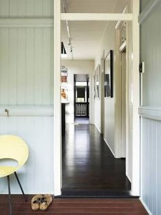 Image 10 of 19 from gallery of Raven Street House / James Russell Architect. Photograph by Toby Scott Floor Design, House Design, Dark Wood Floors, Street House, Floor Colors, Australian Homes, Cottage Interiors, Wooden House, Wooden Flooring