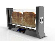 A Transparent Toaster No more burnt toast Toaster flips horizontal great for cheese/toast 800 votes 1st 821 2nd Now with an AWESOME NEW IDEA...
