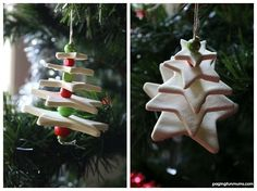 Clay Christmas Tree Craft - made using homemade clay! Such a FUN and frugal activity for Playgroups this holiday season!
