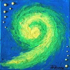Wirbelsturm - Gouache - Gemälde von DaiSign auf DaWanda.com