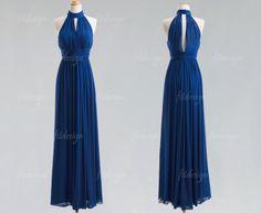 navy blue bridesmaid dress long bridesmaid dress by fitdesign, $119.00