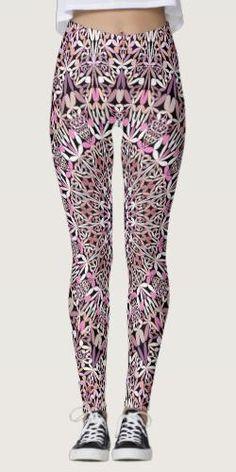 Discover Pink leggings at Zazzle! Bohemian Pattern, Bohemian Design, Bohemian Style, Pink Leggings, Printed Leggings, Spiritual Garden, Yoga Clothing, Yoga Fashion, Leggings Fashion