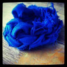 Grunge bracelet fingerknit from a scarf