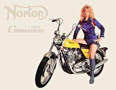 Norton Motorcycle, Motorcycle Posters, Motorcycle Garage, Motorcycle Girls, Wolverhampton, Norton Commando, Bike Poster, Retro Bike, British Motorcycles