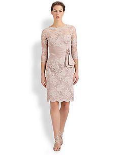 Teri Jon Beaded Lace Dress