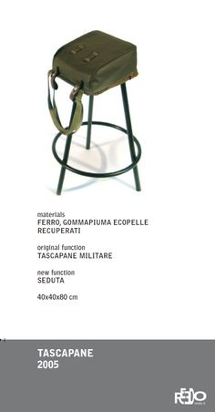 Tascapane, 2005 (2 pezzi)  Fethi Atakol reuse desgin    Price and info: reedo@reedo.it