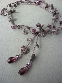 crochet lariat necklace - Crafting For Holidays