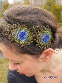 Green feather | biser.info - всё о бисере и бисерном творчестве