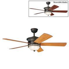 $468Kichler Lighting 300114 3 Light Hendrik Ceiling Fan