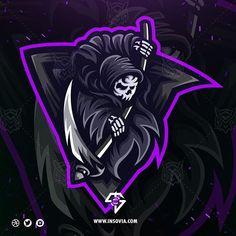 Dark Art Tattoo Demons Ideas For 2019 Team Logo Design, Logo Desing, Mascot Design, Logo D'art, Art Logo, Unique Logo, Cool Logo, La Santa Muerte Tattoo, Logo Free
