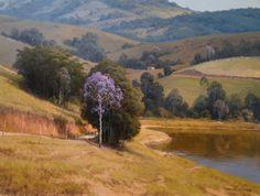 """Alexandre Reider - """"Montanhas de São Xico"""",  óleo s/tela, 60x80 cm 2011"""