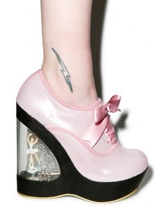 Irregular Choice Glissade Ballerina Wedges | Dolls Kill The pink ones are more my style