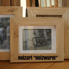 "Holzart ""Holzwurm"" Frame, Home Decor, Reclaimed Wood Frames, Types Of Wood, Picture Frame, Homemade Home Decor, Interior Design, Frames, Home Interiors"
