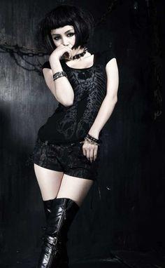 Pencil dress on #Goth girl