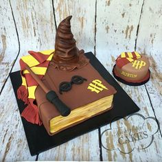 Harry Potter Desserts, Gateau Harry Potter, Harry Potter Birthday Cake, Harry Potter Puns, Harry Potter Theme, Crazy Cakes, Themed Birthday Cakes, Themed Cakes, Cake Designs For Kids