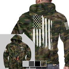 Tailgate Hoodie - America - Full Back - Nine Line Apparel Tactical Clothing, Tactical Gear, Tactical Hoodie, Nine Line Apparel, Moda Nike, Mode Man, Grunt Style, Camo Hoodie, Camouflage Hoodies