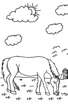 Horse Coloring Sheet | Cake/Cupcake ideas | Pinterest | Horse and ...