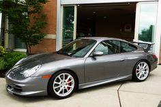 Gray Porsche 996 GT3
