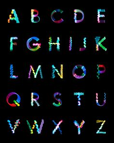 Beautiful light painting slash long-exposure photography alphabet by The Collected Works. Typography Served, Typography Love, Creative Typography, Creative Fonts, Typography Quotes, Typography Prints, Alphabet Writing, Typography Alphabet, Alphabet Design