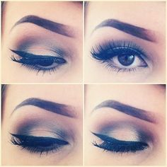 Deep set eye make up
