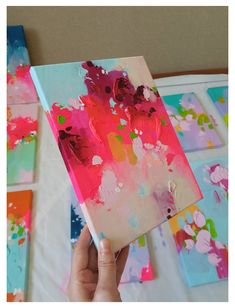 Pink Painting, Blue Abstract Painting, Colorful Abstract Art, Abstract Painting Ideas On Canvas, Colorful Artwork, Art Rose, Pink Art, Pink Blue, Mini Canvas Art
