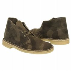 Men's Clarks Desert Boot Green/Camo Shoes.com