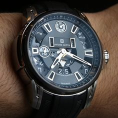 Antoine Martin Perpetual Calendar #watch in steel with partially skeletonized dial #GTE #watchporn #instawatches #ablogtowatch