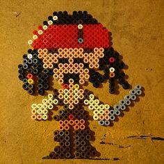 Jack Sparrow hama perler beads by heidenlou