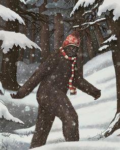 Big Foot Hates Snow!
