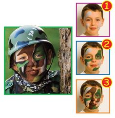 Snazarooa?? Face Painting: Soldier #halloween #facepainting | See more about Soldiers, Face Paintings and Painting.