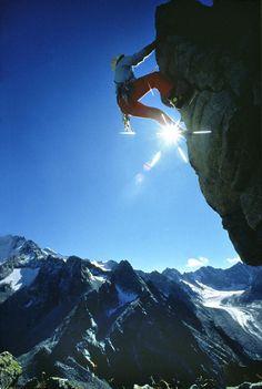 Rock climbing in St Moritz www.boatersoutlet.com