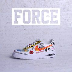 Custom Painted Shoes, Custom Shoes, Custom Af1, Painted Sneakers, Sneaker Art, Hype Shoes, Baskets, Nike Air Force Ones, Custom Sneakers