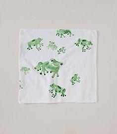 Watercolor Frog Gauze Swaddling Blanket - Burts Bees Baby
