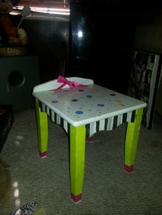 Colors are outstanding Mckenzie inspired Gread side table or prop for photographer. Hand painted by me,,,all paintings and art are created by me