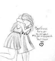 Best Friend Cute Draw.