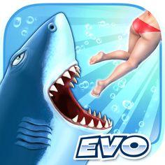 Hungry Shark Evolution APK + Mod (Infinite Coins Massive Attack & More) For Android Megalodon, Google Play, Evolution, World Of Warships, Gem Online, Play Online, Online Games, Shark Games, Massive Attack