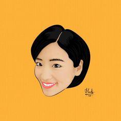 She is Haruka Nakagawa. Created by me. Follow my instagram @instgrmnyanrl  #art #artwork #design #graphicdesign #vector #vectorart #harukajkt48 #harukanakagawa #jkt48