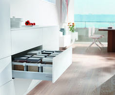 #Kitchen space saving solutions from Blum are suited to a range of rooms, including kitchens and bathrooms