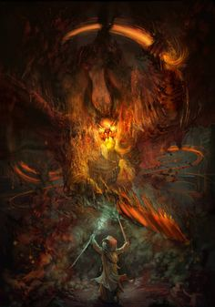 LOTRO: Stand Off by trueping on deviantART - Gandalf and the Balrog