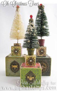 Alpha Stamps News » Elegant Christmas Artwork from Simple Blocks