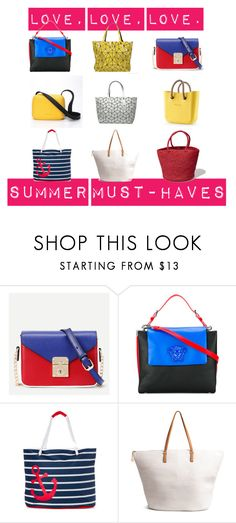 """""""Summer Must-Have Handbags"""" by heylookylou on Polyvore featuring Bao Bao by Issey Miyake, WithChic, Versace, Rugged Equipment and H&M"""