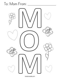 13 Best Mother's Day Coloring Pages and Mini Books images