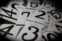 AIW~TABLE NUMBERS