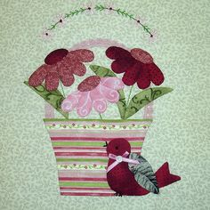 "BLOCK 6 - JUNE BUNNY HILL ""A TISKET A TASKET"" BLOCK OF THE MONTH by Happy 2 Sew, via Flickr"