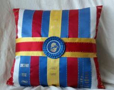 equestrian pillows | Equestrian Pillow made with Your Ow n Ribbons ...